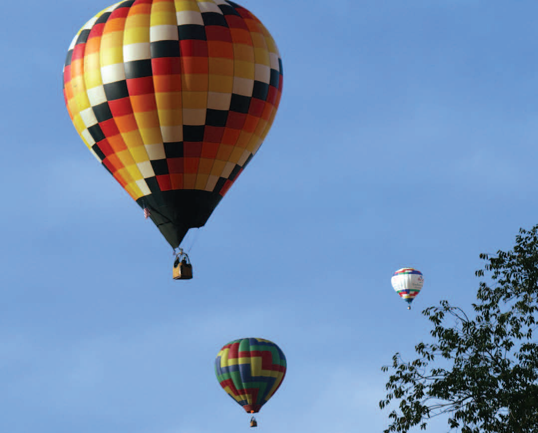Fortuitously The Convention Coincided With International Hot Air Balloon Fiesta Attendees Could Wake Up In Morning To Sight Of Colorful